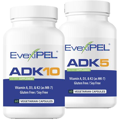 EvexiPEL® HRT ADK5 and ADK10 Preimum Nutraceutical for Calcium Metabolism