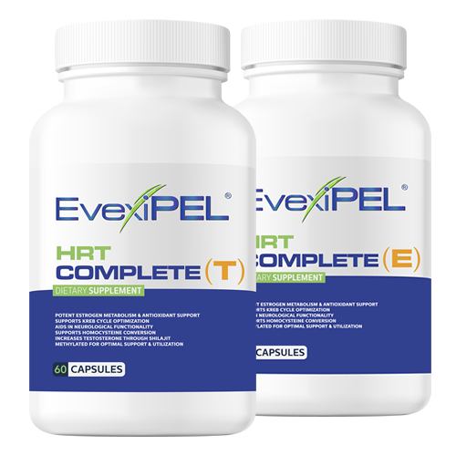 EvexiPEL® HRT Complete T to raise Free Testosterone or E to Metabolize Estrogen