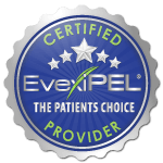 Look for the EvexiPEL Certified Provider Seal Certified EvexiPEL Hormone Replacement Pellet Therapy Provider