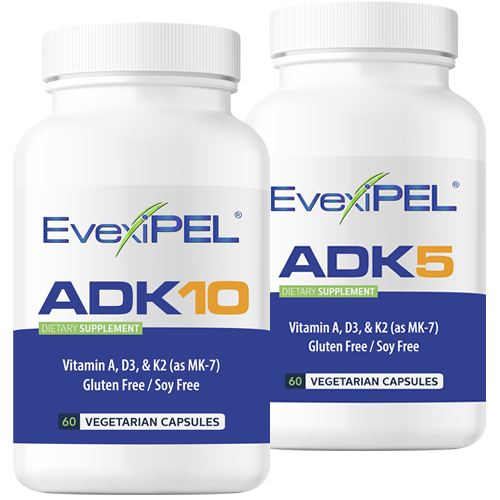 EvexiPEL® HRT ADK5 and ADK10 Preimum Nutraceutical for Calcium Metabolism