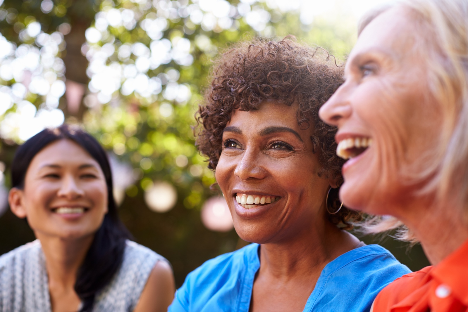 Women discussing the benefits of bioidentical hormone replacement therapy.